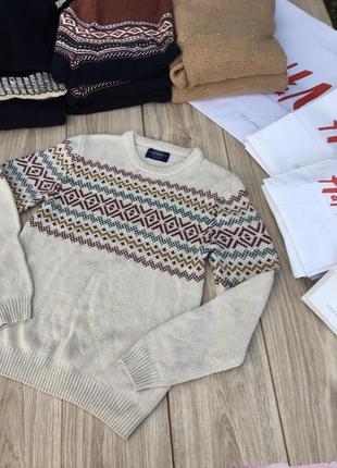 Стильный актуальный свитер pull&bear zara h&m тренд тёплый худи кофта свитшот