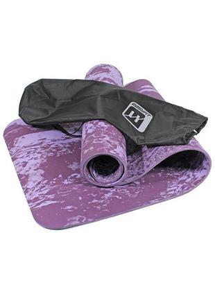 Профессиональный толстый коврик easyfit из джута 183x61x0,8 + сумка-чехол в подарок