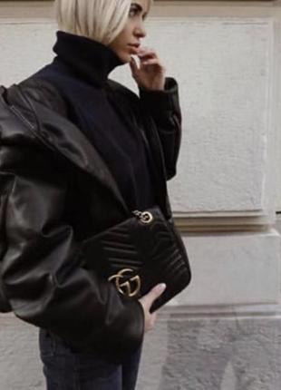 Куртка кожзам zara