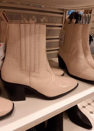Ботильоны в ковбойском стиле казаки полусапожки ботинки ботиночки