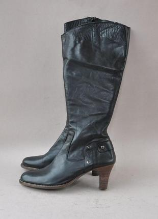 Кожаные сапоги 36-37р 25,5см заужен носок италия