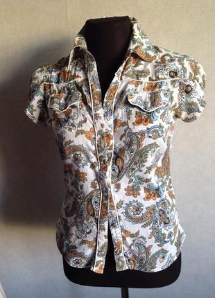 Блуза натуральная ткань