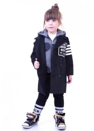 Пальто кашемировое с пристегивающимся капюшоном jo jo