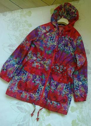 Яркий водонепроницаемый дождевик куртка в цветы