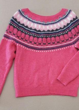 Молодежный свитерок яркий стильный , в составе шерсть и махер, gap