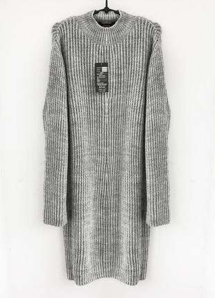 Теплое платье крупная вязка