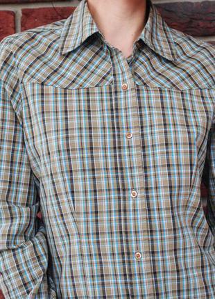 Ковбойская, вестерн рубашка pull & bear в клетку