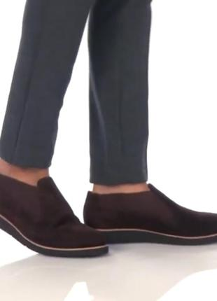 Замшевые темно-коричневые челси туфли сша johnston &  murphy