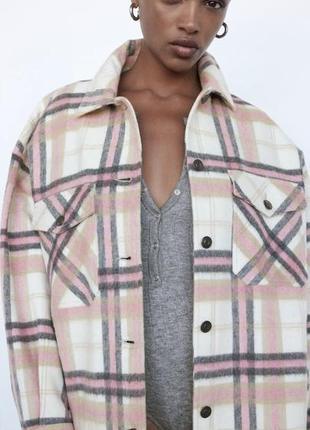 Шерстенная куртка-рубашка zara
