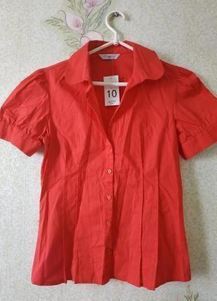 Новая женская рубашка # красная женская рубашка # женская котоновая рубашка # george