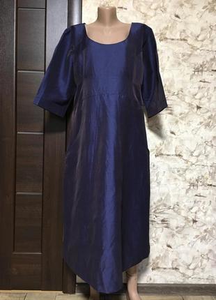 Роскошное шёлковое платье,оверсайз,дикий шёлк,винтах,бохо