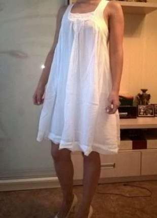 Белое летнее платье zara