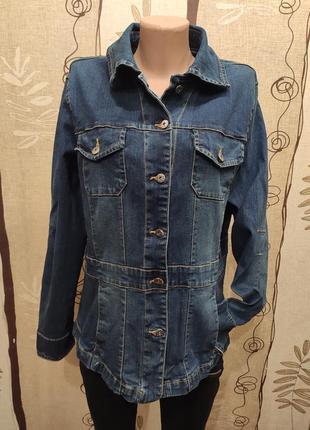 Удлиненная джинсовая куртка, пиджак, джинсовка