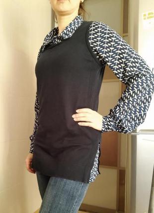 Рубашка обманка сорочка блузка женская