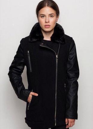 Тёплая куртка с примесью шерсти glo-story