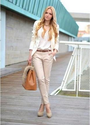 Стильные брюки штаны с разрезами zara