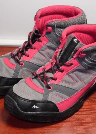Женские ботинки для пеших прогулок arpenaz 50 mid