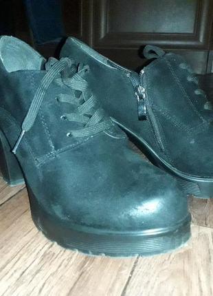 Туфли демисезонные с эко замши