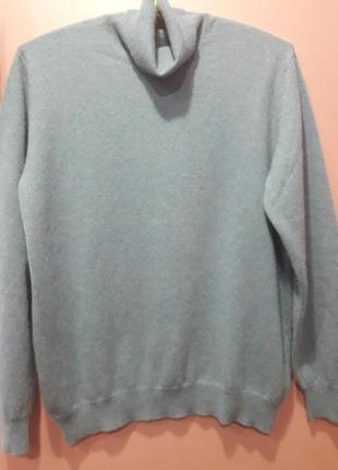 Кашемировый свитер -голубой меланж