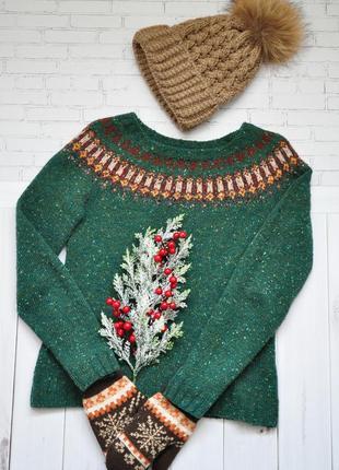 Шерстяной свитер ирландец