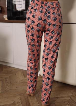Натуральные хлопковые домашние штаны. пижамные штаны турция новые.пижама низ хс-2хл