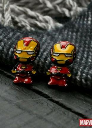 """Серьги, серёжки, гвоздики, висюльки """"железный человек. ironman""""❤️"""