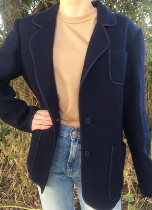Шерстяной французский пиджак weinberg 90% шерсть