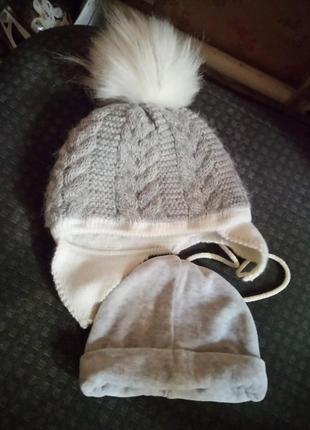 3 шапочки для малыша (ки)