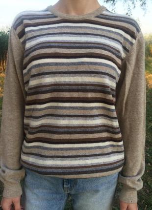 Шерстяной итальянский свитер люкс бренда panicale 100 % лана шерсть