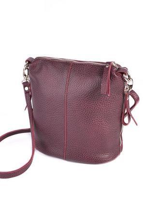 Ціна -10%% шкіряна сумка в кольорі бордо!!