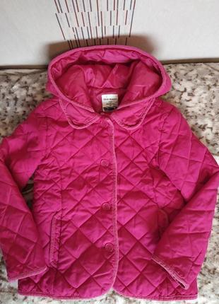 Стьогана курточка для дівчинки 7-8 років