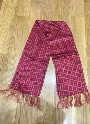 120*20 шелковый шарф с бахромой