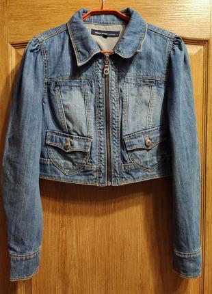 Jeans geisha короткая джинсовая куртка, пиджак, джинсовка на молнии