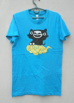 Хлопковая трикотажная спортивная  футболка c принтом