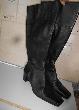 #распродажа #hogl#крутейшие кожаные высокие стильные сапоги  р.25,5#