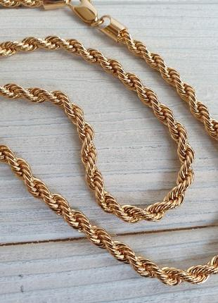 Длинная цепочка толщиной 70 см жгут, позолота 18 к xuping, медицинское золото