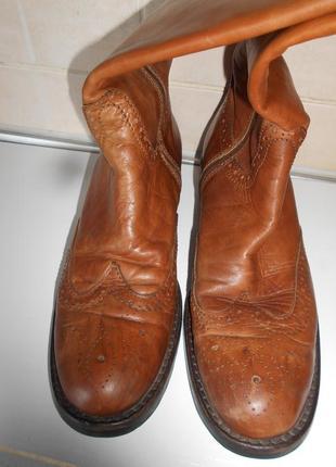 #распродажа! #vero cuoio# винтажные  длинные кожаные сапоги р.40#
