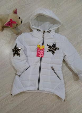 ♥ демисезонная куртка для девочек с нашивками из пайеток ♥