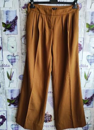 Трендовые брюки палаццо карамельного цвета с защипами !