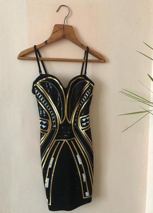 Розкішна міні-сукня h&m в паєтки
