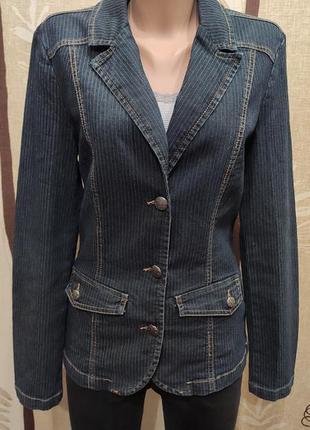 Gina benotti джинсовый стрейчевый пиджак, джинсовка