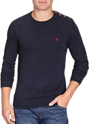 Фирменный шерстяной тёплый свитер, джемпер реглан стиль unisex датского бренда