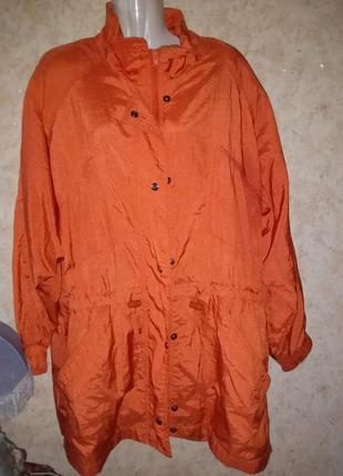 Куртка парка тренч жатка плечи винтаж большой размер батал