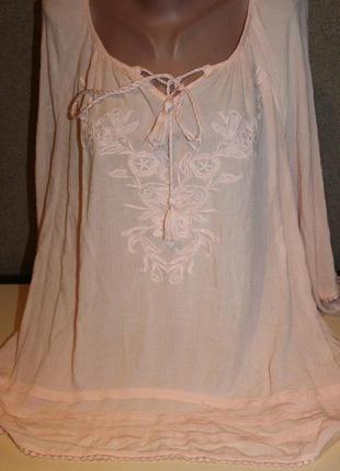Блузка, рубашка, вышиванка большого размера 56-60р.