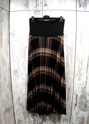 Плиссированная юбка в пол теплая