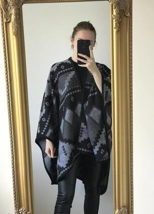 New женское пончо в орнамент one size