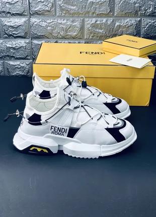 Мужские фенди брендовые кроссовки, сникерcы fendi