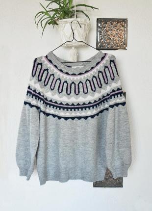 Оверсайз свитер с обьемными рукавами