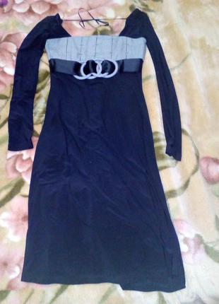 Супер черное платье нарядное
