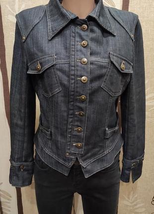 Оригинальная джинсовая куртка, пиджак, джинсовка с вышивкой на спине